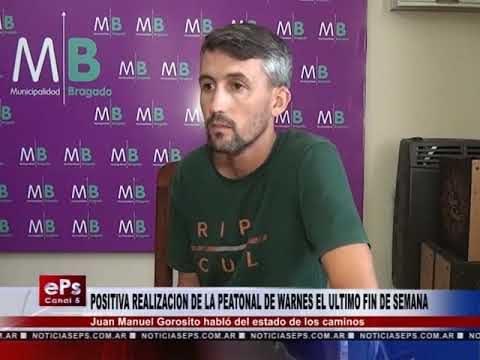 POSITIVA REALIZACION DE LA PEATONAL DE WARNES EL ULTIMO FIN DE SEMANA