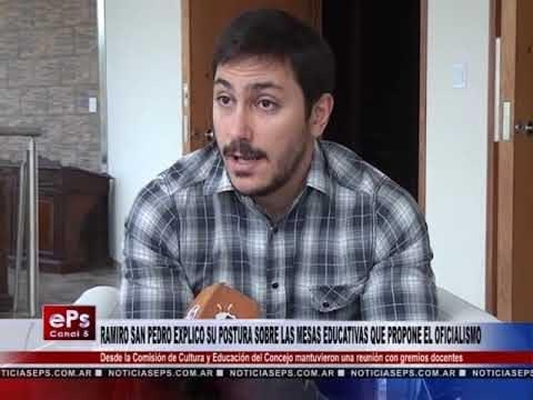 RAMIRO SAN PEDRO EXPLICO SU POSTURA SOBRE LAS MESAS EDUCATIVAS QUE PROPONE EL OFICIALISMO