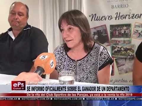 SE INFORMO OFICIALMENTE SOBRE EL GANADOR DE UN DEPARTAMENTO