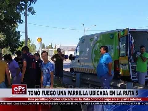 TOMÓ FUEGO UNA PARRILLA UBICADA EN LA RUTA 5