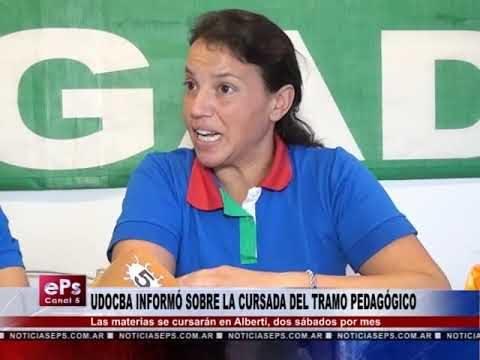 UDOCBA INFORMÓ SOBRE LA CURSADA DEL TRAMO PEDAGÓGICO