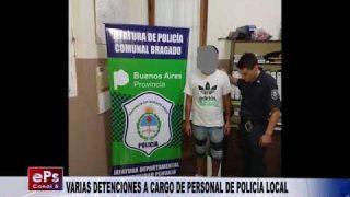 VARIAS DETENCIONES A CARGO DE PERSONAL DE POLICÍA LOCAL