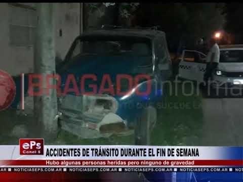 ACCIDENTES DE TRÁNSITO DURANTE EL FIN DE SEMANA