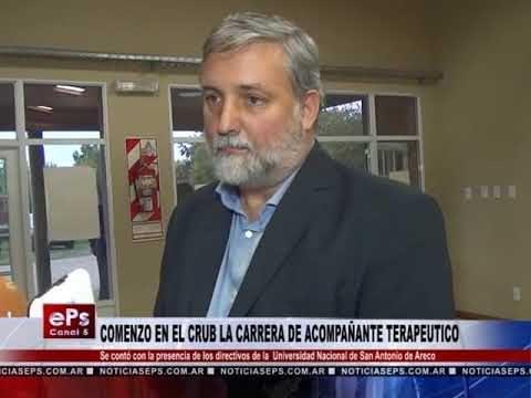 COMENZO EN EL CRUB LA CARRERA DE ACOMPAÑANTE TERAPEUTICO