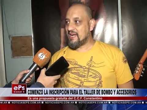 COMENZÓ LA INSCRIPCIÓN PARA EL TALLER DE BOMBO Y ACCESORIOS