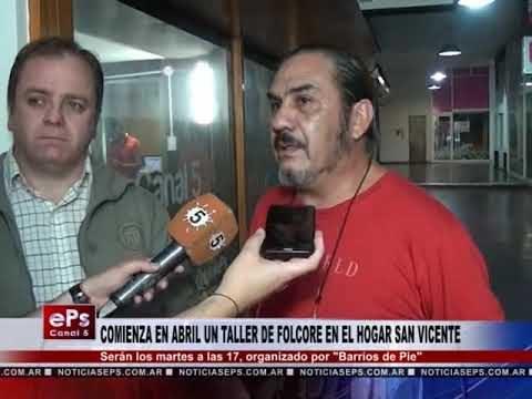 COMIENZA EN ABRIL UN TALLER DE FOLCORE EN EL HOGAR SAN VICENTE