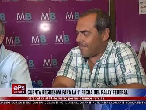 CUENTA REGRESIVA PARA LA 1° FECHA DEL RALLY FEDERAL