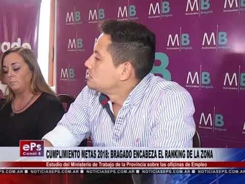 CUMPLIMIENTO METAS 2018 BRAGADO ENCABEZA EL RANKING DE LA ZONA