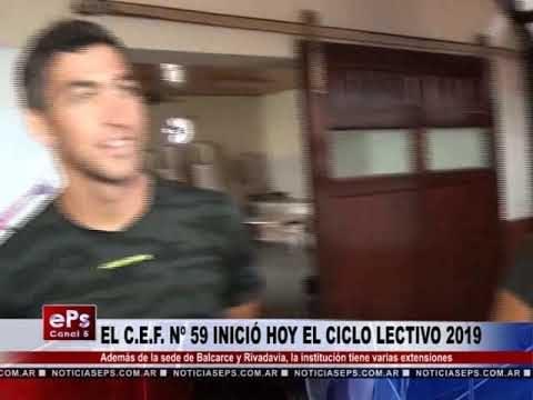 EL CEF Nº 59 INICIÓ HOY EL CICLO LECTIVO 2019