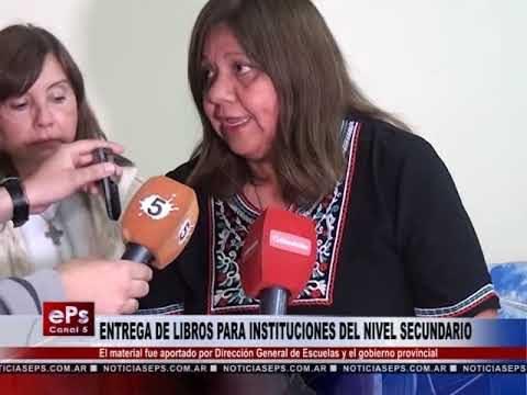 ENTREGA DE LIBROS PARA INSTITUCIONES DEL NIVEL SECUNDARIO