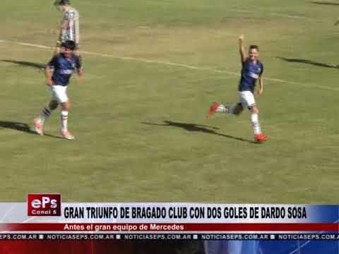 GRAN TRIUNFO DE BRAGADO CLUB CON DOS GOLES DE DARDO SOSA