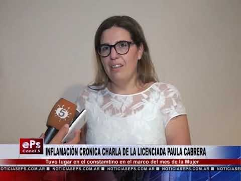 INFLAMACION CRONICA CHARLA DE LA LINCENCIADA PAULA CABRERA