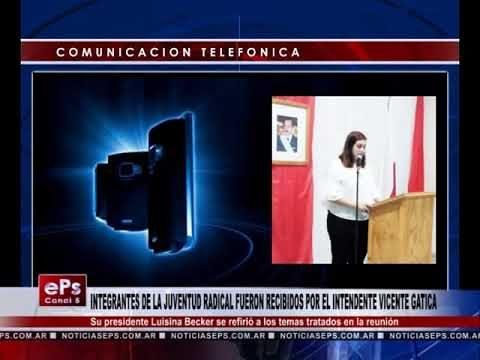 INTEGRANTES DE LA JUVENTUD RADICAL FUERON RECIBIDOS POR EL INTENDENTE VICENTE GATICA