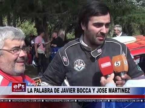 LA PALABRA DE JAVIER BOCCA Y JOSE MARTINEZ