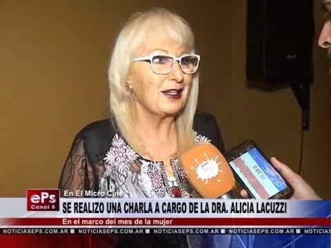 SE REALIZO UNA CHARLA A CARGO DE LA DRA ALICIA LACUZZI