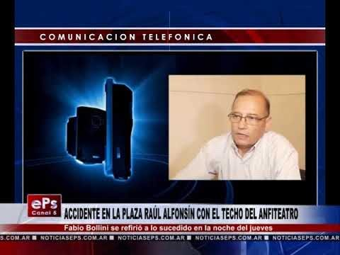 ACCIDENTE EN LA PLAZA RAÚL ALFONSÍN CON EL TECHO DEL ANFITEATRO
