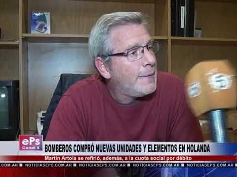 BOMBEROS COMPRÓ NUEVAS UNIDADES Y ELEMENTOS EN HOLANDA