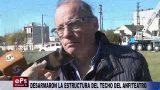 DESARMARON LA ESTRUCTURA DEL TECHO DEL ANFITEATRO