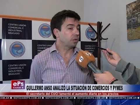 GUILLERMO ANSO ANALIZÓ LA SITUACIÓN DE COMERCIOS Y PYMES