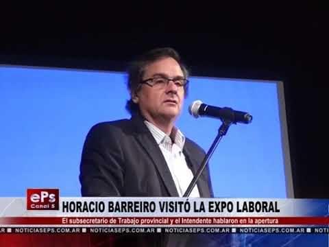 HORACIO BARREIRO VISITÓ LA EXPO LABORAL