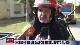 INCENDIO EN UN GALPÓN EN DEL BUSTO AL 600