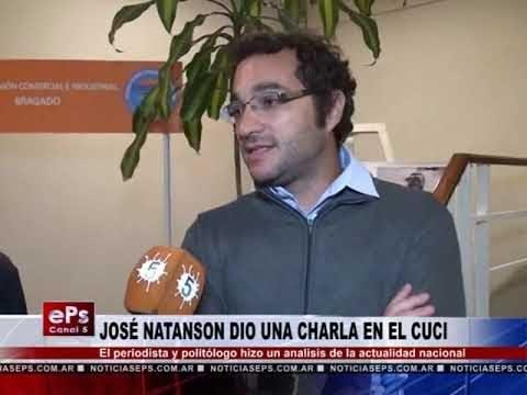JOSÉ NATANSON DIO UNA CHARLA EN EL CUCI