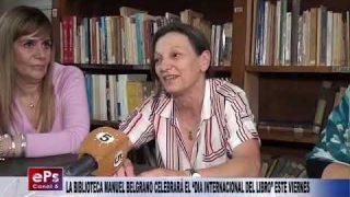 LA BIBLIOTECA MANUEL BELGRANO CELEBRARÁ EL DIA INTERNACIONAL DEL LIBRO ESTE VIERNES