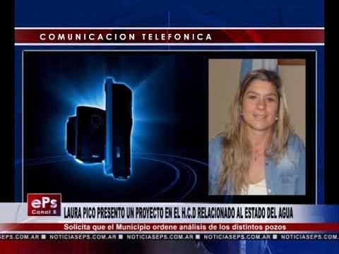 LAURA PICO PRESENTO UN PROYECTO EN EL HCD RELACIONADO AL ESTADO DEL AGUA