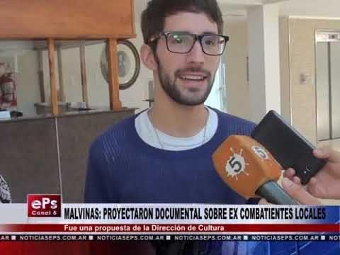 MALVINAS PROYECTARON DOCUMENTAL SOBRE EX COMBATIENTES LOCALES