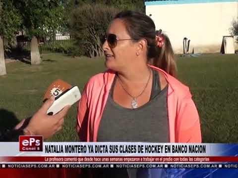 NATALIA MONTERO YA DICTA SUS CLASES DE HOCKEY EN BANCO NACION