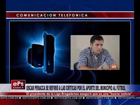 OSCAR PERACCA SE REFIRIÓ A LAS CRITICAS POR EL APORTE DEL MUNICIPIO AL FÚTBOL