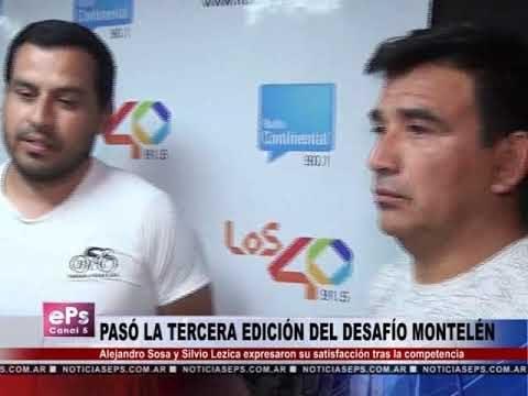 PASÓ LA TERCERA EDICIÓN DEL DESAFÍO MONTELÉN