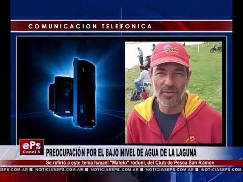 PREOCUPACIÓN POR EL BAJO NIVEL DE AGUA DE LA LAGUNA