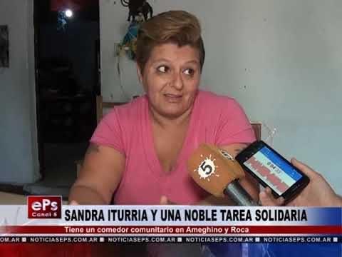 SANDRA ITURRIA Y UNA NOBLE TAREA SOLIDARIA