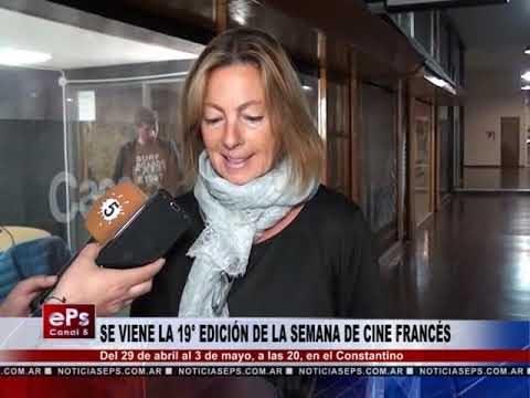 SE VIENE LA 19° EDICIÓN DE LA SEMANA DE CINE FRANCÉS