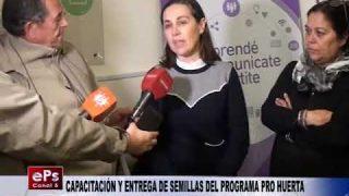 CAPACITACIÓN Y ENTREGA DE SEMILLAS DEL PROGRAMA PRO HUERTA