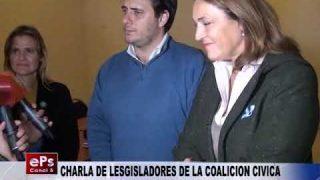 CHARLA DE LESGISLADORES DE LA COALICION CIVICA