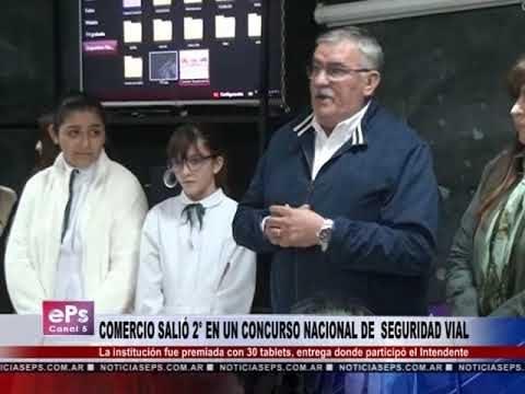 COMERCIO SALIÓ 2° EN UN CONCURSO NACIONAL DE SEGURIDAD VIAL