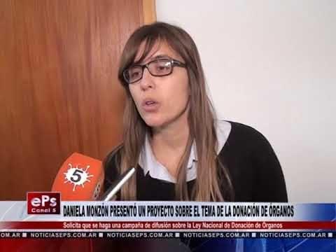 DANIELA MONZÓN PRESENTÓ UN PROYECTO SOBRE EL TEMA DE LA DONACIÓN DE ÓRGANOS