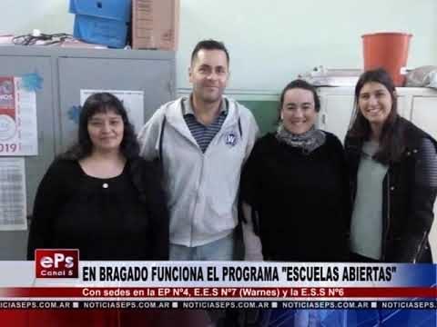 EN BRAGADO FUNCIONA EL PROGRAMA ESCUELAS ABIERTAS