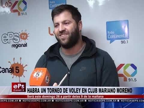 HABRA UN TORNEO DE VOLEY EN CLUB MARIANO MORENO