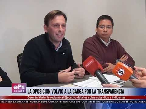 LA OPOSICIÓN VOLVIÓ A LA CARGA POR LA TRANSPARENCIA