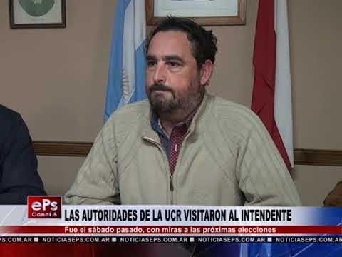 LAS AUTORIDADES DE LA UCR VISITARON AL INTENDENTE