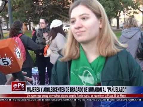MUJERES Y ADOLESCENTES DE BRAGADO SE SUMARON AL PAÑUELAZO