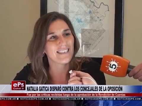 NATALIA GATICA DISPARÓ CONTRA LOS CONCEJALES DE LA OPOSICIÓN