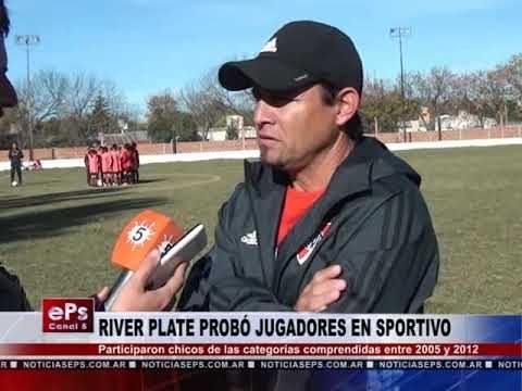 RIVER PLATE PROBÓ JUGADORES EN SPORTIVO