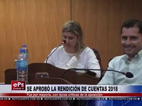 SE APROBÓ LA RENDICIÓN DE CUENTAS 2018