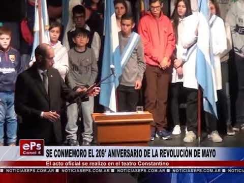 SE CONMEMORO EL 209° ANIVERSARIO DE LA REVOLUCIÓN DE MAYO