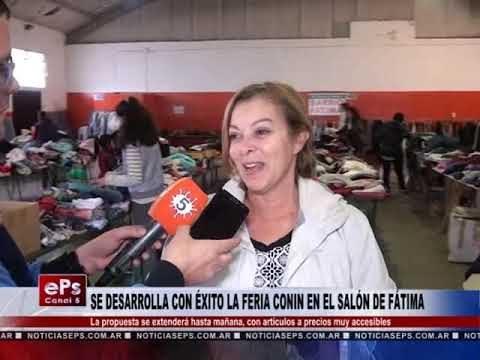 SE DESARROLLA CON ÉXITO LA FERIA CONIN EN EL SALÓN DE FÁTIMA