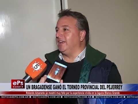 UN BRAGADENSE GANÓ EL TORNEO PROVINCIAL DEL PEJERREY